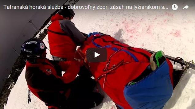 Zásah THS DZ na lyžiarskom svahu